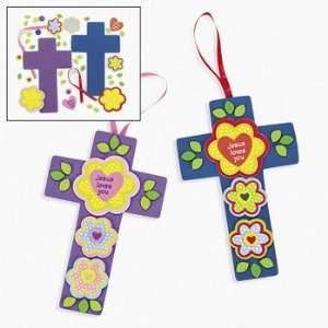 Jesus Loves You Flower & Cross Craft Kit   Craft Kits & Projects