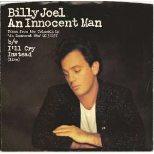 Innocent Man / Ill Cry Instead (Live) 1983 45rpm W/PS Billy Joel