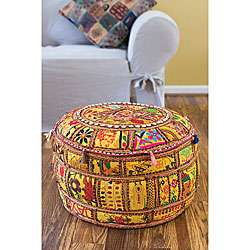 Traditional Indian Pouf (Set of 2)  Overstock