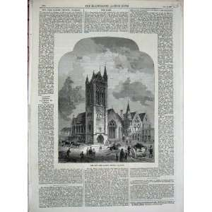 1869 Free Barony Church Glasgow Scotland Fine Art