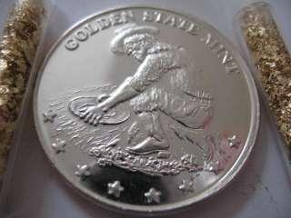 OZ.SILVER.999 COIN GOLDEN STATE MINT PROSPECTOR  EAGLE + GOLD 2012
