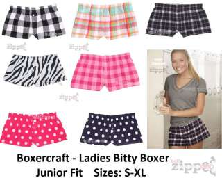 Boxercraft Ladies Bitty Boxer Cotton Flannel Boxers F40 S XL NEW