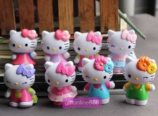 8pcs Hello Kitty figure Figurine toy doll Collect 6cm