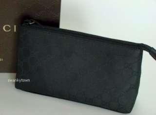 NEW GUCCI BLACK GG JACQUARD Travel/Case/Makeup/Cosmetic BAG