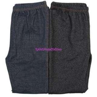 Japan Skinny Faux Denim Jeans Leggings Black XS S