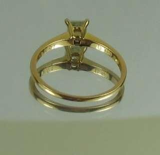 GOLD STUNNING 1/2 CARAT PRINCESS CUT DIAMOND ENGAGEMENT RING