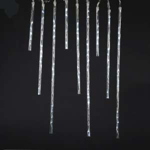 Function Frosted Winter White Meteor Snow Shower LED Tube Christmas