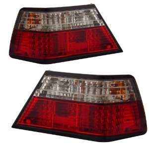 1985 1993 Mercedes Benz W124 KS LED Red/Clear Tail Lights