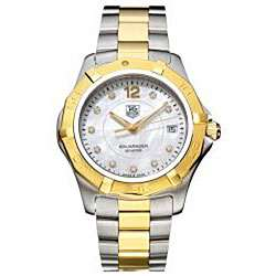 Tag Heuer Mens Aquaracer Two tone Stainless Steel Diamond Watch