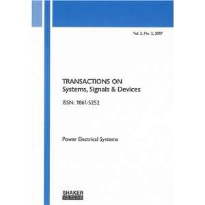 Transactions on Systems, Signals and Devices Power Electrical