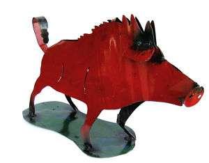 YARD ART RAZORBACK PIG METAL SCULPTURE HOG FIGURE 24