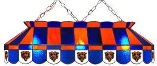 CHICAGO BEARS NFL 40 STAINED GLASS BILLIARD POOL TABLE LIGHT BAR