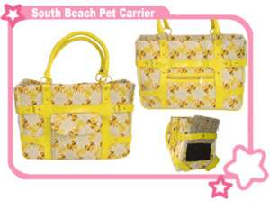 South Beach Chic Designer Pet Dog Cat Carrier Bag