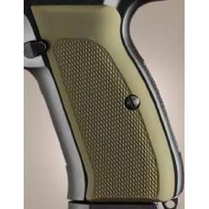 Hogue CZ 75/CZ 85 Grips Checkered Aluminum Matte Green: