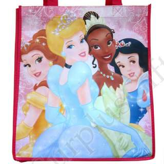 Princess Cinderella Belle Snow White Tiana Reusable Shopping Bag Tote