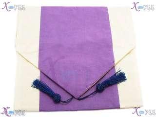 Purple Chinese Silk Handmade Circle Flower Table Runner