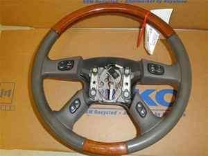 Escalade 04 Leather Woodgrain Steering Wheel OEM LKQ