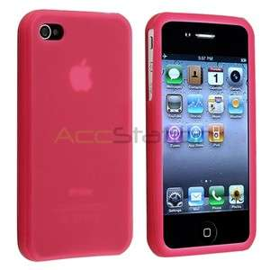Silicone Rubber Soft Gel Skin Case Cover for iPhone 4 4G 4S USA Seller