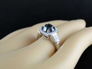 GOLD BLACK DIAMOND ROUND ROSE CUT SOLITAIRE ENGAGEMENT RING