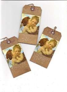 Sweet Angels~ Tags~12~Primitive~Grungy~Love