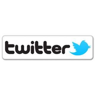 Twitter social networking car bumper sticker 7 x 2