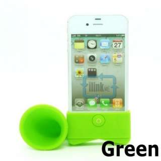 Portable Silicone Horn Stand Amplifier Speaker For iPhone 4 4S 4G NEW