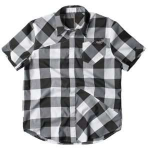 Fly Racing Jack Down Button Up Shirt   X Large/Black/Blue
