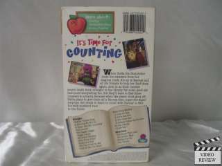 Its Time For Counting VHS Barney the Dinosaur 045986020222