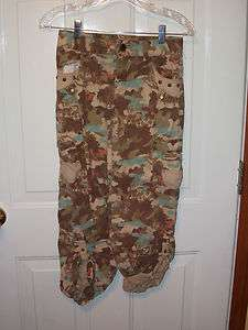 Girls Sz 12 Brown Pink Green Camo Pants/capris Adjustable EUC