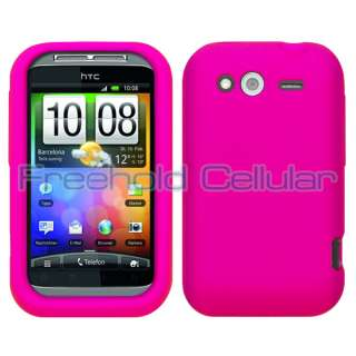 Pink Soft Silicone Skin Cover Case for T Mobile HTC Wildfire S