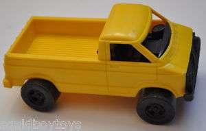 STROMBECKER 6 Plastic YELLOW PICK UP TRUCK 1970s