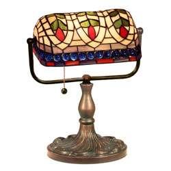 Tiffany style Banker Blue Eyes Desk Lamp