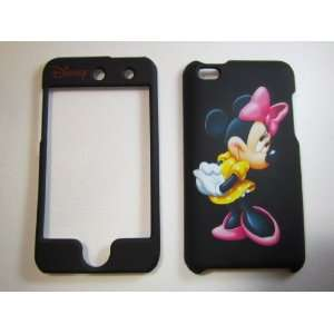Minnie Mouse Black Apple iPod iTouch 4 Faceplate Case