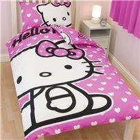 Hello Kitty Hearts Single Duvet Quilt Cover Set