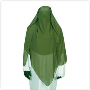 Green triangle niqab veil Hijab burqa islamic dress