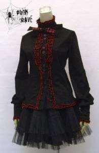 Gothic Lolita Steam Punk Rave long sleeve ruffle shirt