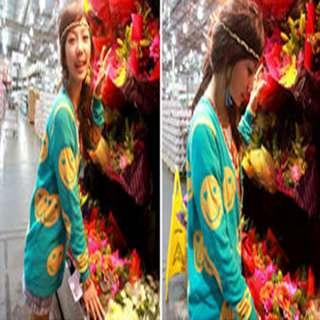 2011 New Korean Women Smile Face Knit Cardigan Jacket Coat 2 Colors