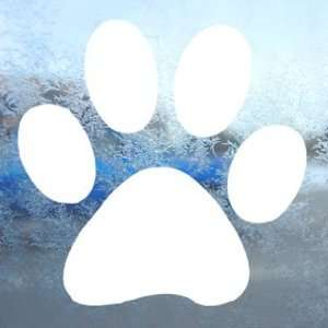 Dog Paw White Decal Window Laptop Vinyl White Sticker