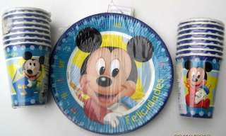 Baby MICKEY MOUSE Party Supplies Lunch PLATES CUPS Decoration Birthday