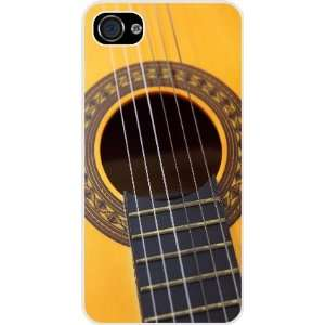 com Rikki KnightTM Guitar White Hard Case Cover for Apple iPhone® 4