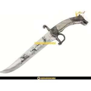 Wolf and Eagle Hunting Dagger Steel knife fixed Blade