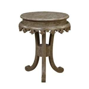 Shefield Round Pedestal End Table by Gails Accents   Pedestal base