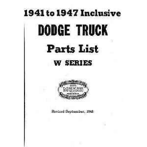 1941 1942 1946 1947 Dodge W Series Civilian Trucks Factory