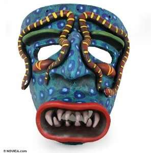 Ceramic mask, Coral Snake Tastuan Home & Kitchen