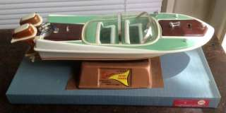 Rare Vintage 1960s REL Typhoon Battery Powered 18 Model Speed Boat