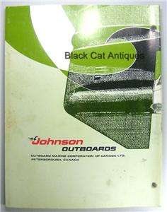 1974 OMC Johnson Outboard Motor Service Instruction Book/Manual 9.9 HP
