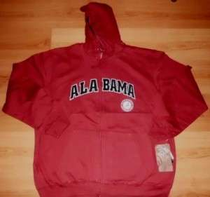 Alabama Crimson Tide Hoodie 2xl Special Stitched Zip NCAA Free
