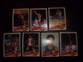 1979 80 Topps New Jersey Nets set (7) w/BERNARD KING