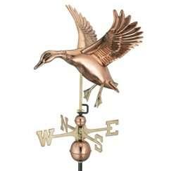 Good Directions Landing Duck Weathervane Copper