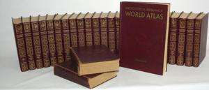 Encyclopedia Britannica 27 Book Series World Atlas Dictionary Antique